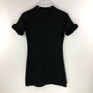 Guess • fur trim sleeve sweater T-shirt